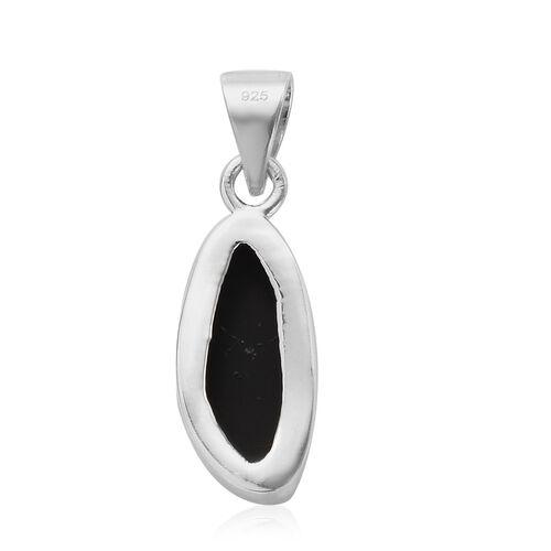 Australian Boulder Opal Pendant in Platinum Overlay Sterling Silver