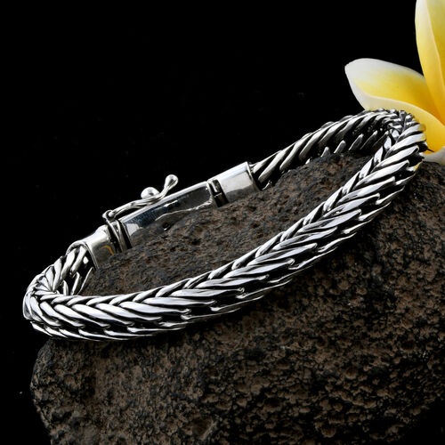 Royal Bali Collection Sterling Silver Foxtail Bracelet (Size 8), Silver wt 49.88 Gms.