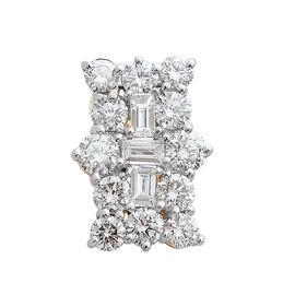 ILIANA 1 Carat Diamond Boat Cluster Pendant in 18K Gold 1.85 Grams