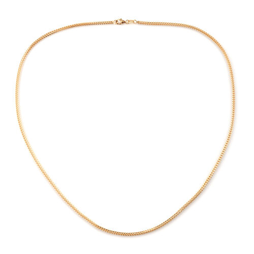 Royal Bali Collection 9K Yellow Gold Hybrid Box Wheat Necklace (Size 20), Gold wt 5.63 Gms.
