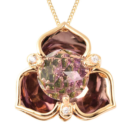 Galatea DavinChi Cut Collection - Amethyst, Mozambique Garnet, Natural Cambodian Zircon and Russian