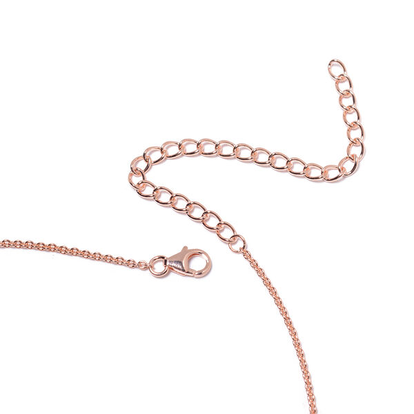 LucyQ - Rose Gold Overlay Sterling Silver Drip Necklace (Size 16 with 4 inch Extender), Silver wt 17.11 Gms
