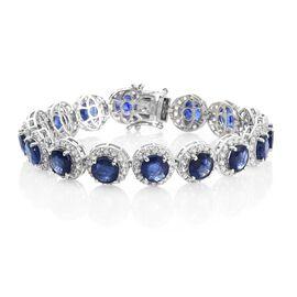 Duchess Inspired - Rare Size Masoala Sapphire (Rnd), Natural Cambodian Zircon Bracelet (Size 8.25) i