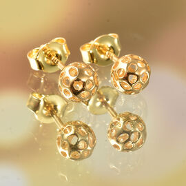 RACHEL GALLEY Globe Collection -Yellow Gold Overlay Sterling Silver Stud Earrings (with Push Back)