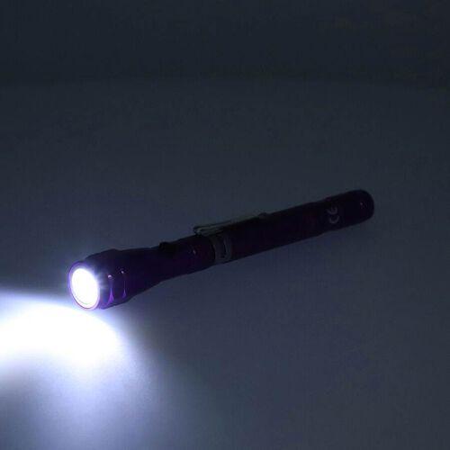 2 Piece Set - 360 Degree Flexible Head 3 LED Magnetic Flashlight (Size 17x2.2 Cm) (4XLR44 Battery Included) - Purple