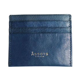 Assots London FANN Credit Card Holder in Blue (Size 10x8cm)