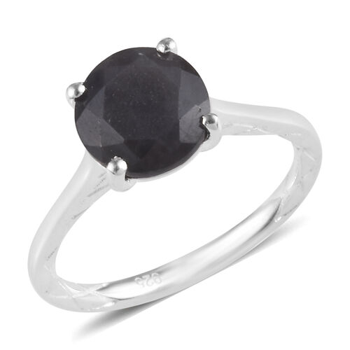 2 Ct Silver Sapphire Solitaire Ring in Sterling Silver