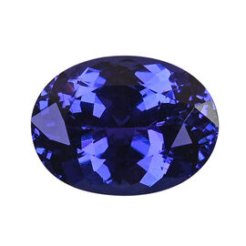 AAAA Tanzanite Oval 14.50x10.98x7.55 Faceted 8.68 Ct.