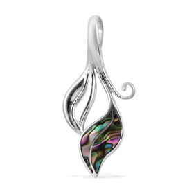 Royal Bali Collection Abalone Shell Leaf Pendant in Sterling Silver