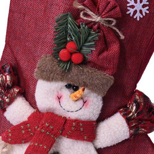 Christmas Decoration 3D Snowman Stocking (Size 24x46x27cm)