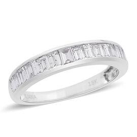 ILIANA 18K W Gold IGI Certified Diamond (Bgt) (I3 / G-H) Half Eternity Band Ring 1.000 Ct.