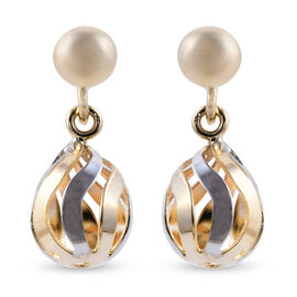 9K Yellow Gold Ball Drop Earrings (with Push Back)