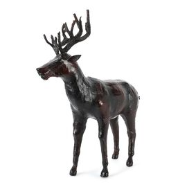 Home Decor - Handcrafted Leather Deer (Size 25x38 Cm)