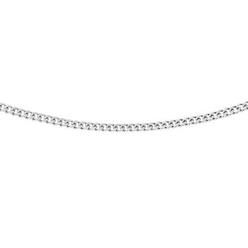 Sterling Silver Adjustable Panza Curb Chain (Size 18)