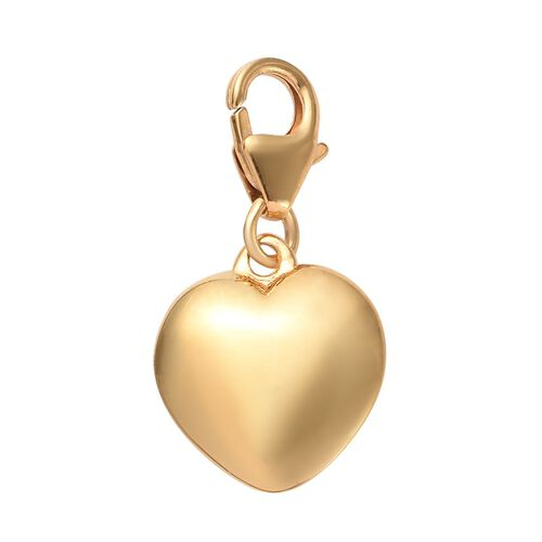 14K Gold Overlay Sterling Silver Heart Charm