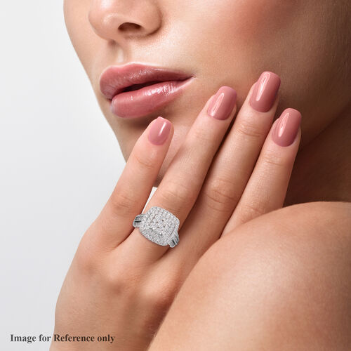 NY Close Out Deal 2 Carat Diamond Cluster Ring in 14K White Gold VS SI-G