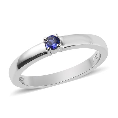 RHAPSODY 950 Platinum AAAA Tanzanite Solitaire Band Ring
