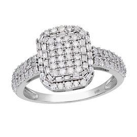 9K White Gold SGL Certified Diamond (I3/G-H) Ring 1.00 Ct.