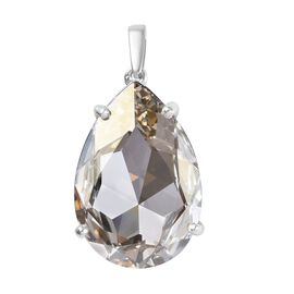 J Francis - Crystal from Swarovski Metallic Light Gold Crystal (Pear) Pendant in Platinum Overlay St