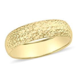 Diamond Cut Band Ring in 9K Yellow Gold
