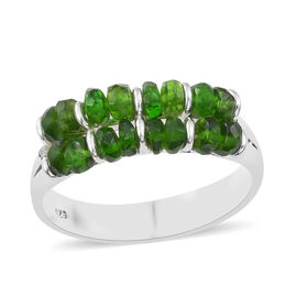 One Time Deal- Russian Diopside (Rnd) Ring in Sterling Silver 3.50 Ct.