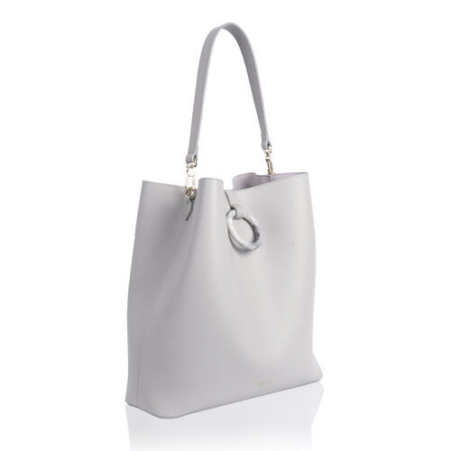 Inyati Sahara Handbag with External Zipper Pocket  - Linen Grey