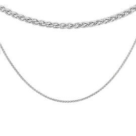 Sterling Silver Spiga Chain (Size 22) with Lobster Clasp