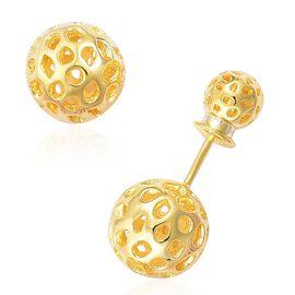 WEBEX- Rachel Galley Yellow Gold Plated Sterling Silver Globe Stud Earrings, Silver wt 4.87 Gms.