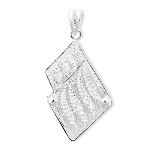 Royal Bali Collection High Polish Pendant in Sterling Silver 1.87 Grams