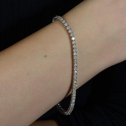 14K White Gold EGL Certified Diamond (Rnd) (I1-I2/G-H) Tennis Bracelet (Size 7.25) 2.07 Ct, Gold wt 7.70 Gms