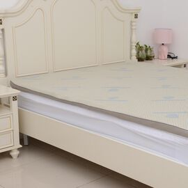 Gel Infused 7 Zone Memory Foam Mattress Topper (Size 135x190x5 Cm) - Double