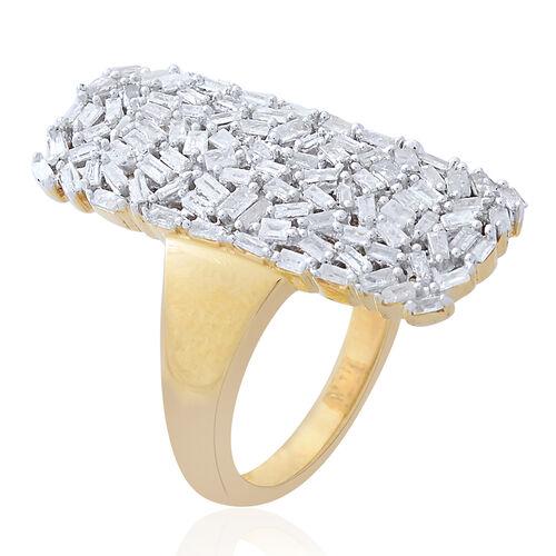Designer Inspired - Firecracker Diamond (Bag) Ring in 14K Gold Overlay Sterling Silver 1.000 Ct.