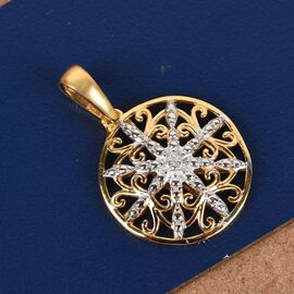 Diamond Pendant in 14K Gold Overlay Sterling Silver