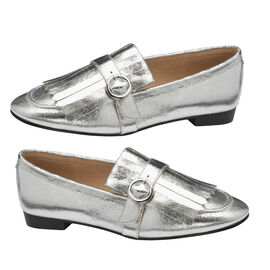 Ravel Fringe Detailing Silver Estrada Loafers