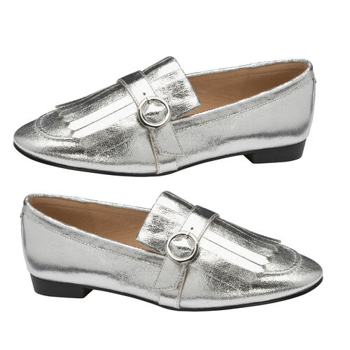 Ravel Silver Estrada Loafers (Size 5)