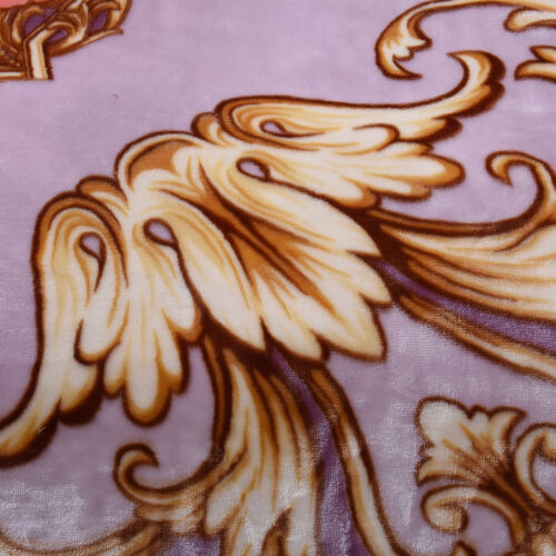 Serenity Night - Supersoft Luxurious and Comfortable 3D Printed Classical Scroll Pattern Double Layer Blanket (Size 200x235cm)