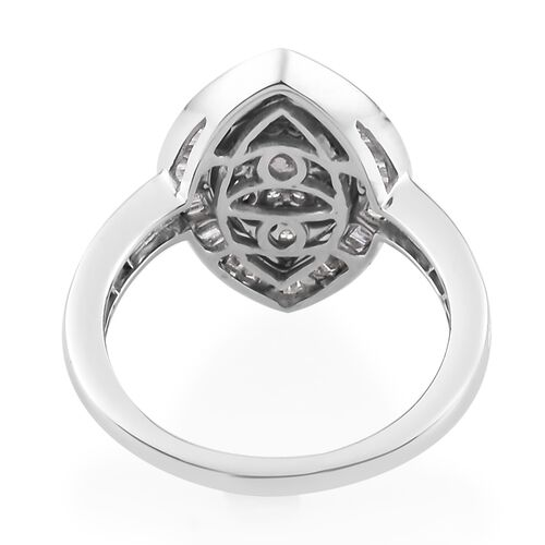 9K White Gold SGL Certified Diamond ( I3/G-H) Marquise Ring 1.00 Ct.