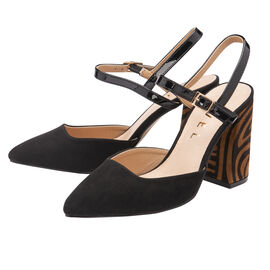Ravel Zebra-Print Zaza Court Shoes BSlack & Tan