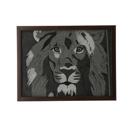 Shungite Handcrafted Lion Painting (25x33 Cm)