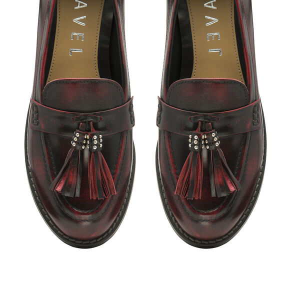 Ravel Bordo Levin Patent Leather Low Heel Loafers (Size 7)