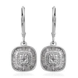 9K White Gold SGL CERTIFIED Diamond (Rnd and Bgt) (I3 / G-H) Earrings 1.00 Ct.