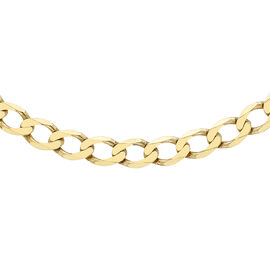 Curb Chain with Lobster Clasp in 9K Yellow Gold 22 Inch