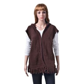 New Season- Chocolate Colour Gilet Cardigan (Size 60x55 Cm)