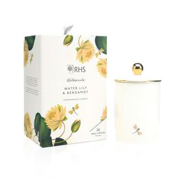 RHS - Wax Lyrical England - Luxury Soy Wax Porcelain Candle - Water Lily & Bergamont