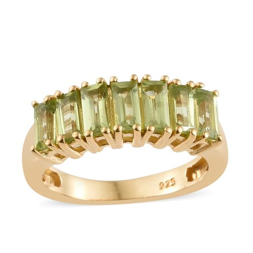 Hebei Peridot (1.50 Ct) 14K Gold Overlay Sterling Silver Ring  1.500  Ct.