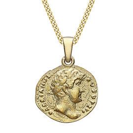 9K Yellow Gold Roman Coin Pendant