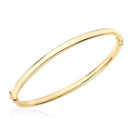 Hatton Garden Close Out Deal- 9K Yellow Gold Oval Tube Bangle (Size 7), Gold wt. 3.91 Gms