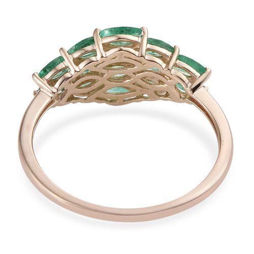 9K Y Gold Boyaca Colombian Emerald (Mrq) Ring 1.850 Ct.
