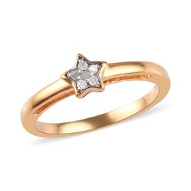 Diamond Star Stacker Ring in 14K Gold Overlay Sterling Silver