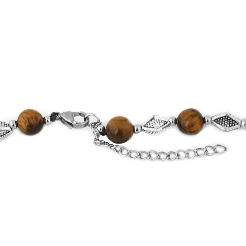Yellow Tigers Eye Necklace (Size 20 with Extender) 101.30 Ct.